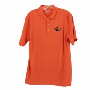 Nike Golf Oregon State Dri-Fit Orange Polo Shirt M